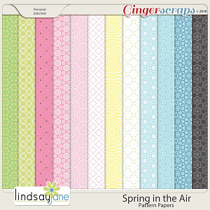 Spring in the Air Pattern Papers by Lindsay Jane