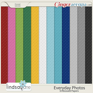 Everyday Photos Embossed Papers by Lindsay Jane