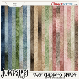 Sweet Childhood Dreams {Softly Blended Papers}