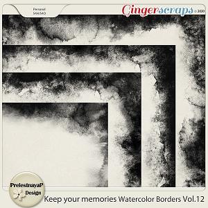 Keep your memories Watercolor Borders Vol.12