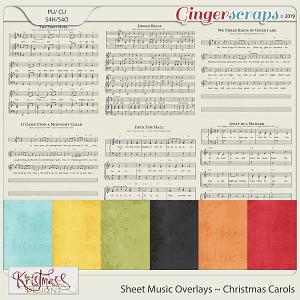 Sheet Music Overlays - Christmas Carols