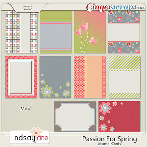 Passion For Spring Journal Cards by Lindsay Jane