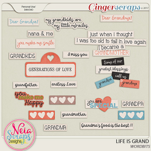 Life Is Grand - Wordbits - By Neia Scraps