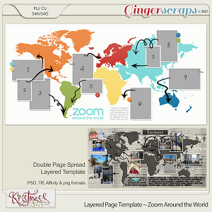 Layered Page Templates ~ Zoom Around the World
