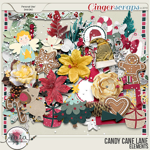 Candy Cane Lane - Elements - by Neia Scraps