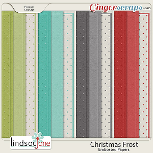 Christmas Frost Embossed Papers by Lindsay Jane