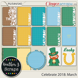 Celebrate 2018: March JOURNAL CARDS by Heather Z Scraps