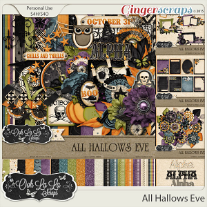 All Hallows Eve Digital Scrapbooking Bundle