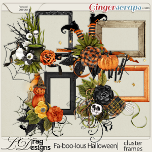 Fa-BOO-lous Halloween: Cluster Frames by LDragDesigns