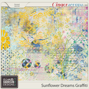 Sunflower Dreams Graffiti by Aimee Harrison