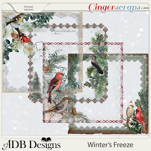 Winter's Freeze Page Borders