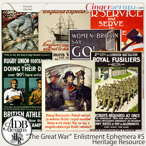 Heritage Resource Enlistment Ephemera Set 05 by ADB Designs