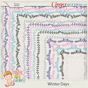 Winter Days Page Borders