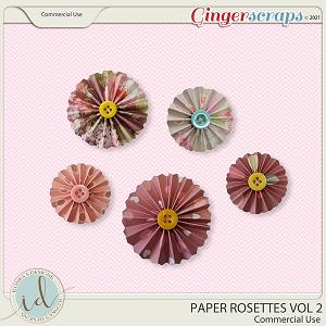 CU Paper Rosettes Vol 2 by Ilonka's Designs