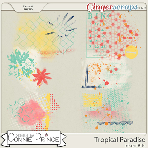 Tropical Paradise - Inked Bits by Connie Prince