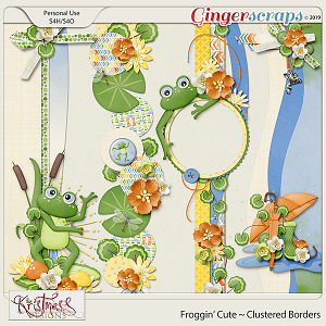 Froggin' Cute Clustered Borders