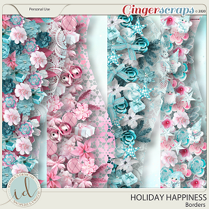 Holiday Happiness Borders by Ilonka's Designs