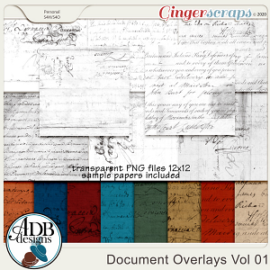 Heritage Resource - Document Overlays & Papers Vol 01 by ADB Designs