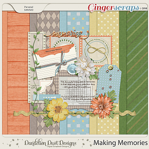 Making Memories Digital Scrapbook Kit By Dandelion Dust Designs