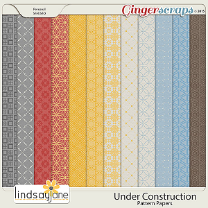 Under Construction Pattern Papers by Lindsay Jane
