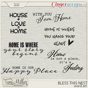 Bless This Nest Word Art by Tami Miller Designs