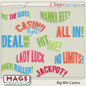 Big Win Casino WORD ART by MagsGraphics