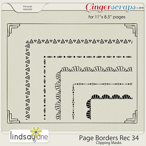 Page Borders Rec 34 by Lindsay Jane