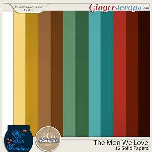 The Men We Love Solid Papers by JoCee Designs and Miss Fish