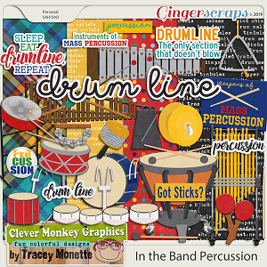 In the Band Percussion by Clever Monkey Graphics