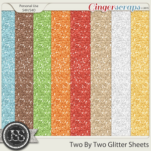 Two By Two 12x12 Glitter Sheets