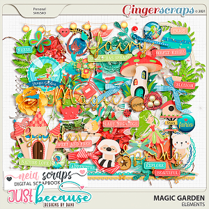 Magic Garden Elements by JB Studio and Neia Scraps