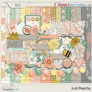 Just Peachy Digital Scrapbook Kit by Dandelion Dust Designs