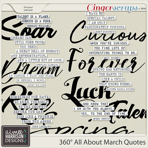 360° All About March Quotes by Aimee Harrison