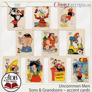 Uncommon Men - Sons & Grandsons Accent Cards by ADB Designs