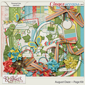 August Daze Page Kit