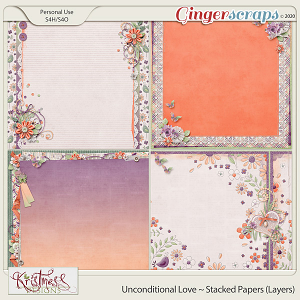 Unconditional Love Stacked Papers (Layers)