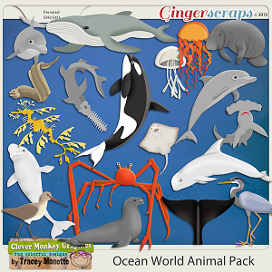 Ocean World Animal Pack by Clever Monkey Graphics