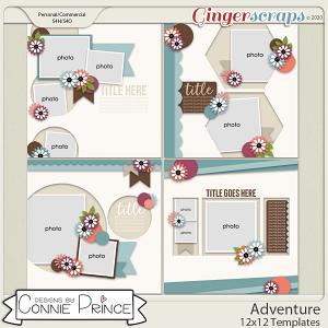 Adventure - 12x12 Templates (CU Ok) by Connie Prince