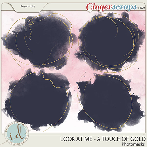 Look at Me A Touch Of Gold Photo Masks by Ilonka's Designs