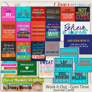 Work it Out - Gym Time Journal Cards by Clever Monkey Graphics