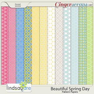 Beautiful Spring Day Pattern Papers by Lindsay Jane