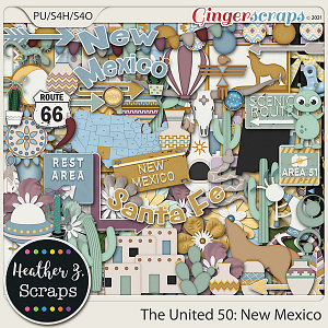 The United 50: New Mexico KIT by Heather Z Scraps