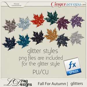 Fall For Autumn: Glitterstyles by LDrag Designs