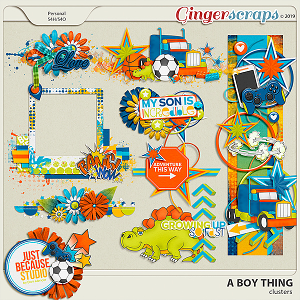 A Boy Thing Clusters by JB Studio