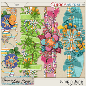 Jumpin' June Page Borders from Designs by Lisa Minor