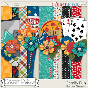 Family Fun - Border Clusters by Connie Prince