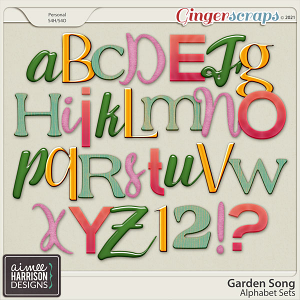 Garden Song Alpha Sets by Aimee Harrison