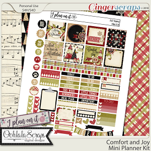 Comfort and Joy Planner Stickers Mini Kit