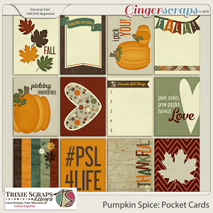 Pumpkin Spice Pocket Cards by Trixie Scraps Designs