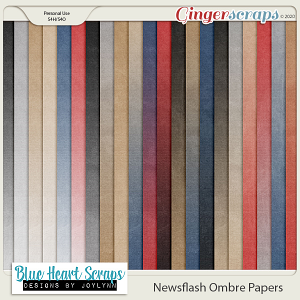 Newsflash Ombre Paper Pack